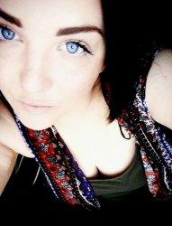 Dark Hair Blue eyed girl